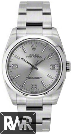 Replica Rolex Oyster Perpetual No-Date 36mm Silver Dial Automatic Watch 116000