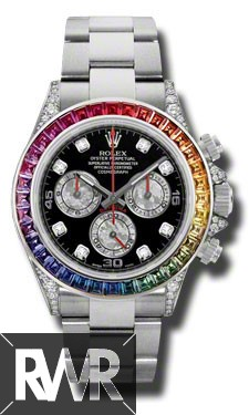 Replica Rolex Oyster Perpetual Cosmograph Daytona Rainbow Watch 116599 RBOW