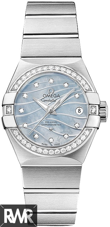 "Fake Omega Constellation Brushed Chronometer ""Pluma"" 123.15.27.20.57.001"