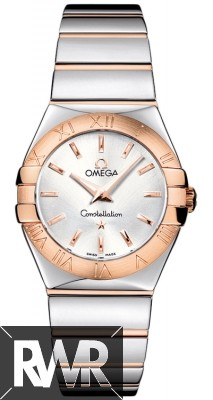Replica Omega Constellation Polished 27mm Ladies Watch 123.20.27.60.02.003