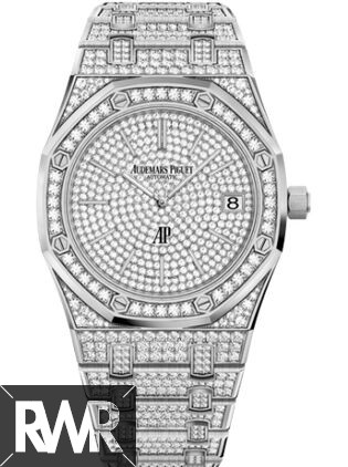 b3718afb7e26b7 Replica Audemars Piguet Royal Oak Extra-Thin White Gold Diamond ...