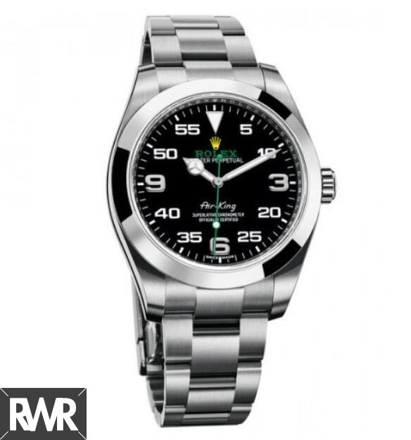 Replica Rolex Air King Black Dial Stainless Steel 116900BKAO