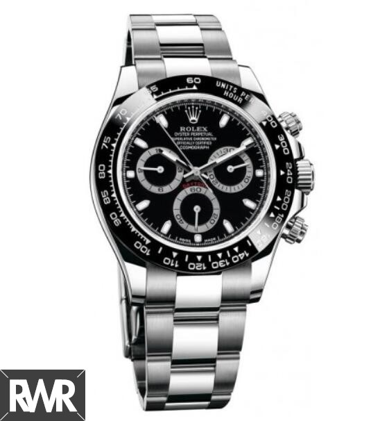 Replica Rolex Cosmograph Daytona Black Dial Stainless Steel Oyster 116500BKSO