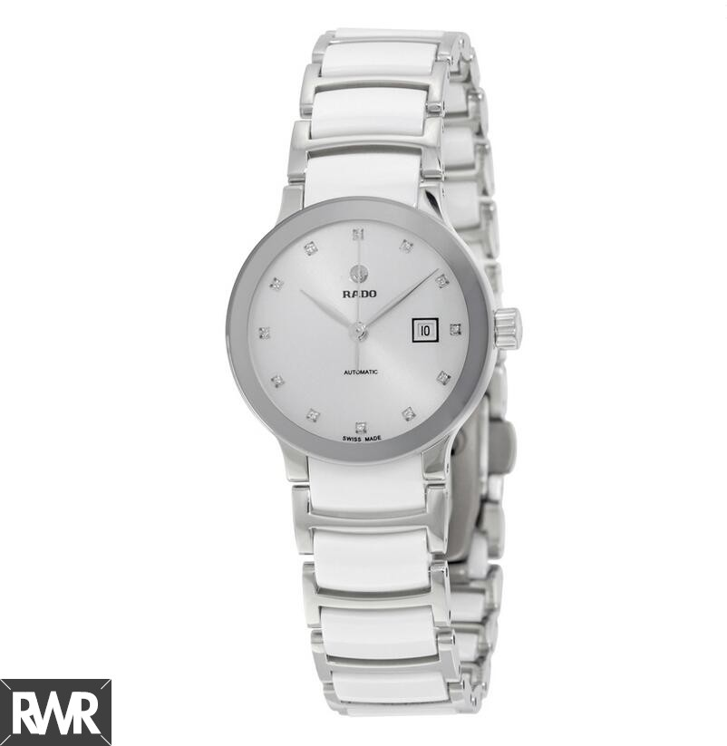 Rado Centrix White Dial Stainless Steel Automatic Ladies Replica Watch R30027732