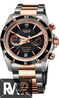 Replica Tudor Grantour Chrono Fly-Back Stainless Steel and Pink Gold 20551N-95731