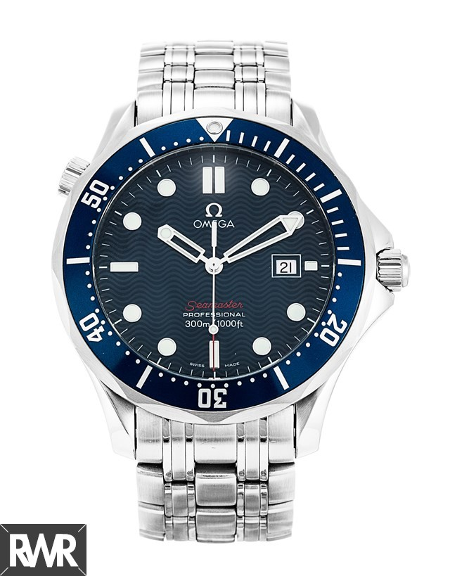 "Fake Omega Seamaster 300M Quartz ""James Bond"" Blue Dial Watch 2221.80.00"