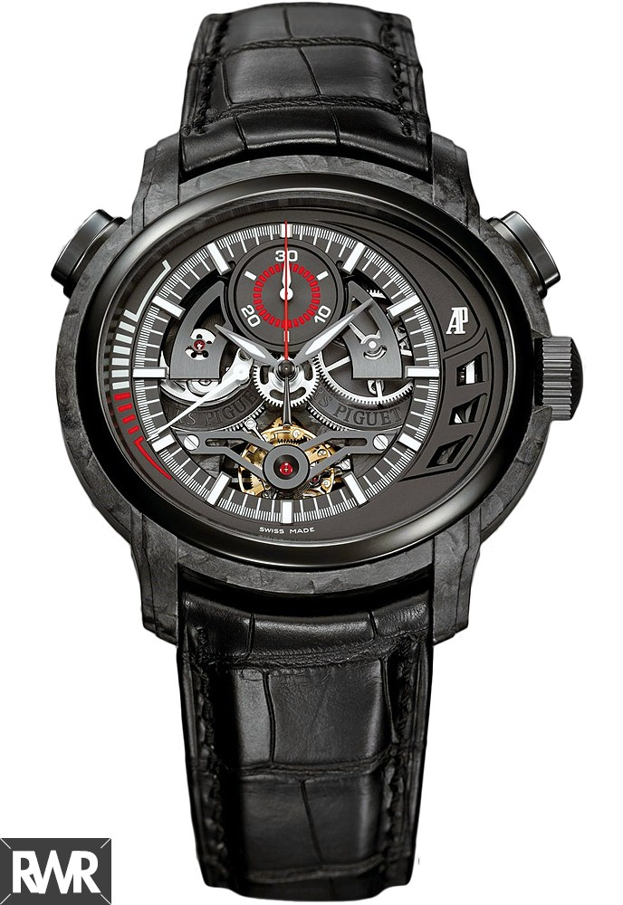 Replica Audemars Piguet Millenary Carbon One Tourbillon Chronograph 26152AU.OO.D002CR.01