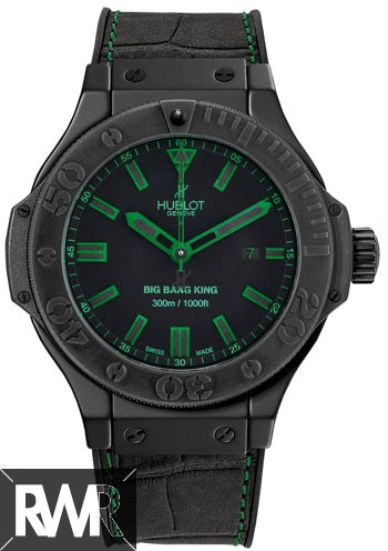 Replica Hublot Big Bang King All Black Green 48mm Mens Watch 322.CI.1190.GR.ABG11