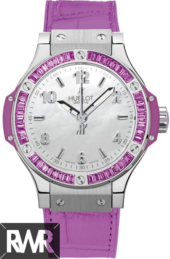 Replica Hublot Big Bang 38mm Steel Tutti Frutti Purple 361.SV.6010.LR.1905