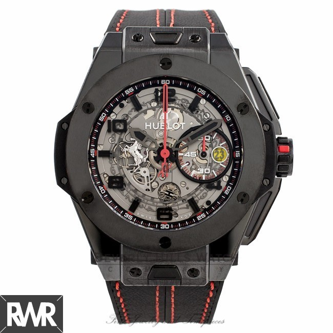 Hublot Big Bang Ferrari Black Ceramic watch 401.CX.0123.VR IQD6Q3 replica