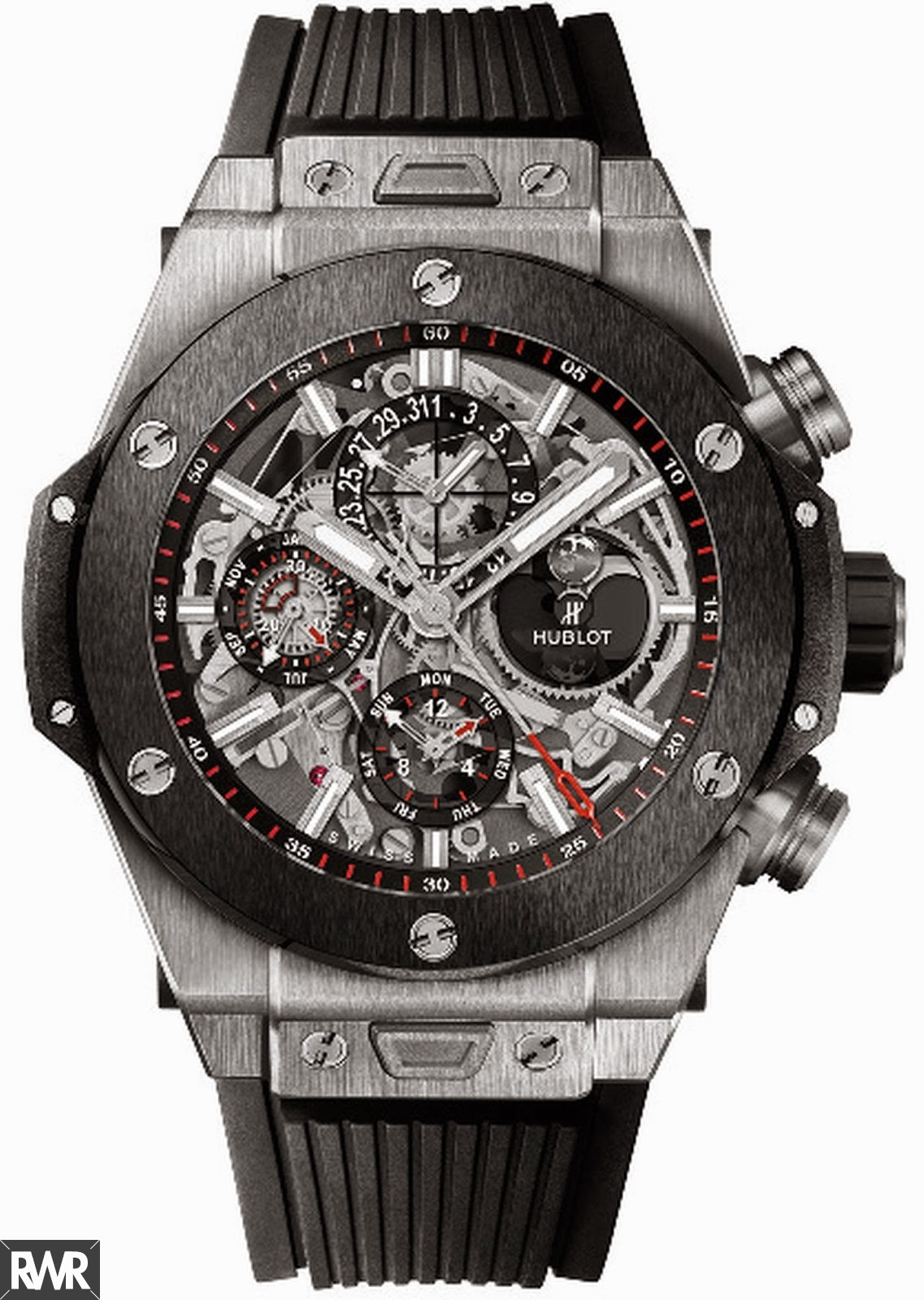 Fake Hublot Big Bang Chrono Perpetual Calendar Titanium Ceramic 406.NM.0170.RX