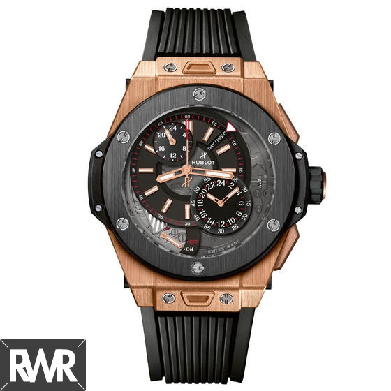Fake Hublot Big Bang Alarm Repeater Ceramic King Gold 45mm 406.OM.0123.RX