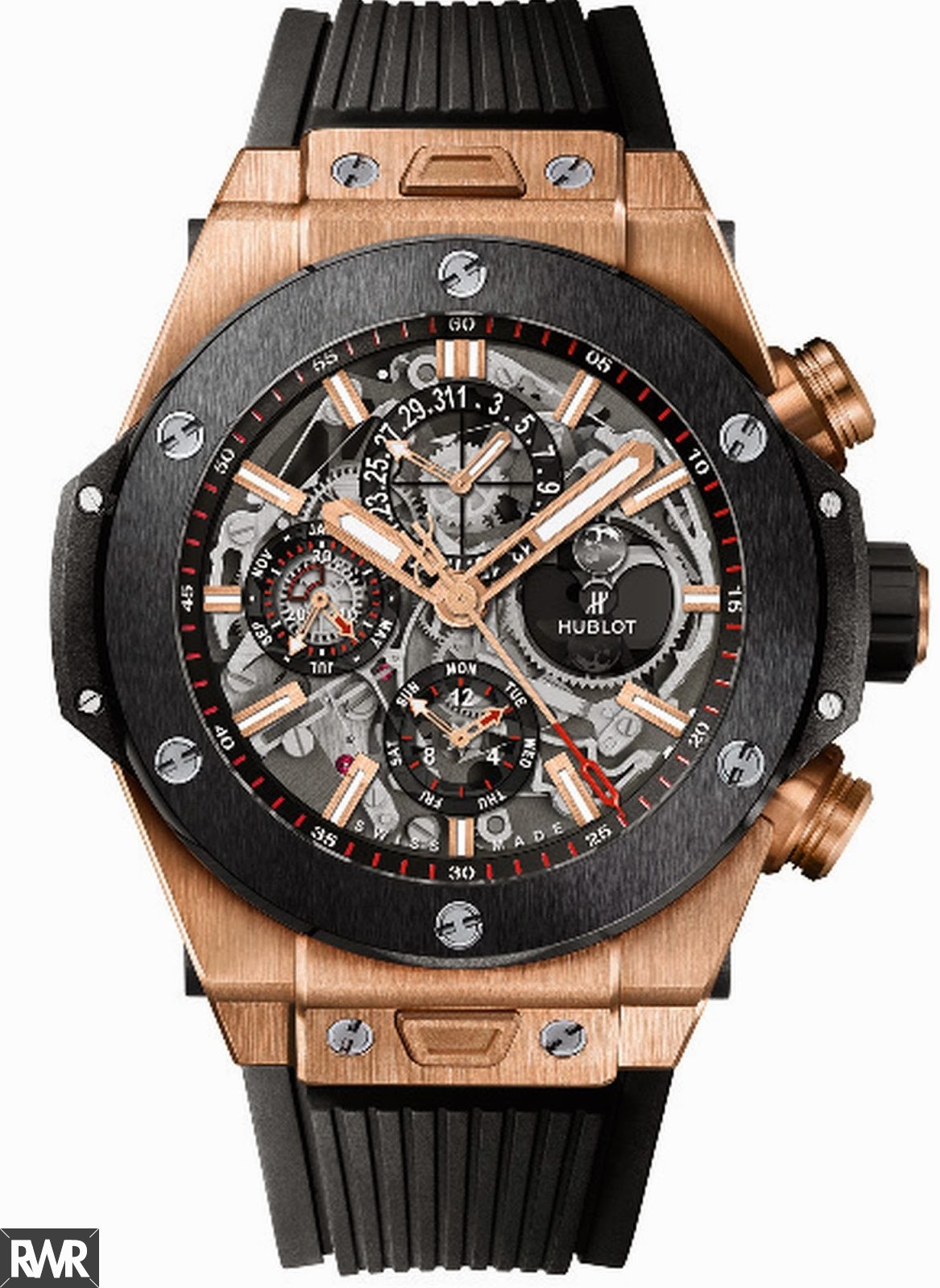 Fake Hublot Big Bang Chrono Perpetual Calendar King Gold Ceramic 406.OM.0180.RX