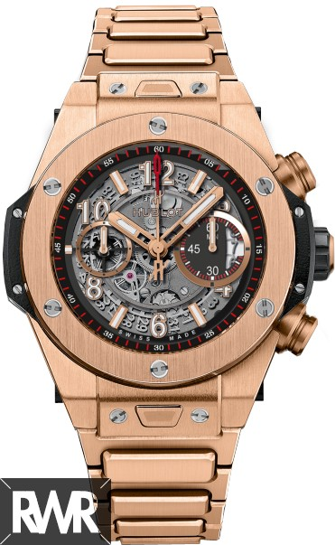 Fake Hublot Big Bang Unico King Gold Bracelet 411.OX.1180.OX
