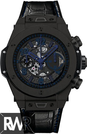 Replica Hublot Big Bang Unico All Black Blue Black Ceramic 411.CI.1190.LR.ABB14