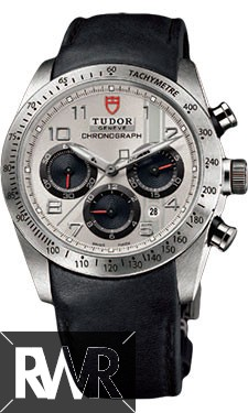 Replica Tudor Fastrider Chronograph Black Leather Silver Arabic 42000