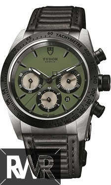 Fake Tudor Fastrider Chronograph Black Ceramic Bezel Green Leather 42010n