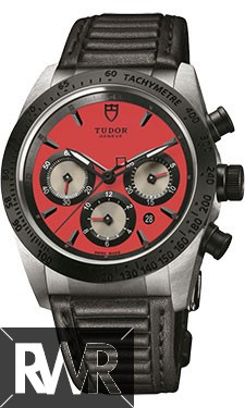 Fake Tudor Fastrider Chronograph Black Ceramic Bezel Red Leather 42010n
