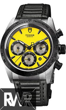 Fake Tudor Fastrider Chronograph Black Ceramic Bezel Yellow 42010n