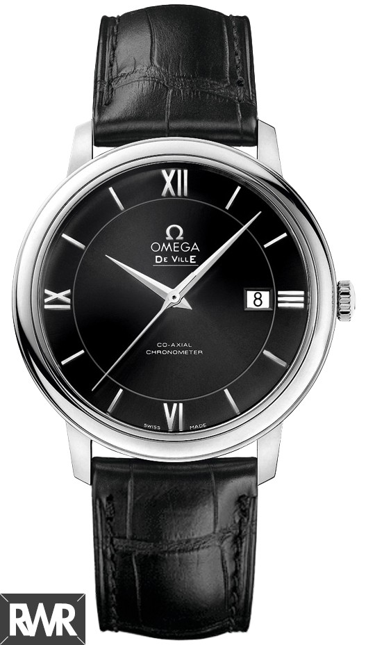 Omega De Ville Prestige Co-Axial 39.5 mm Automatic Black Dial Mens Watch424.13.40.20.01.001