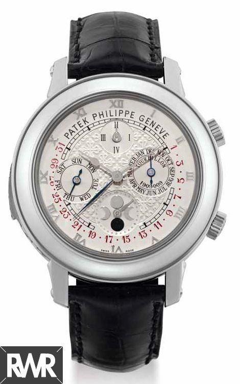 Replica Patek Philippe Sky Moon Tourbillon Mens Watch 5002P