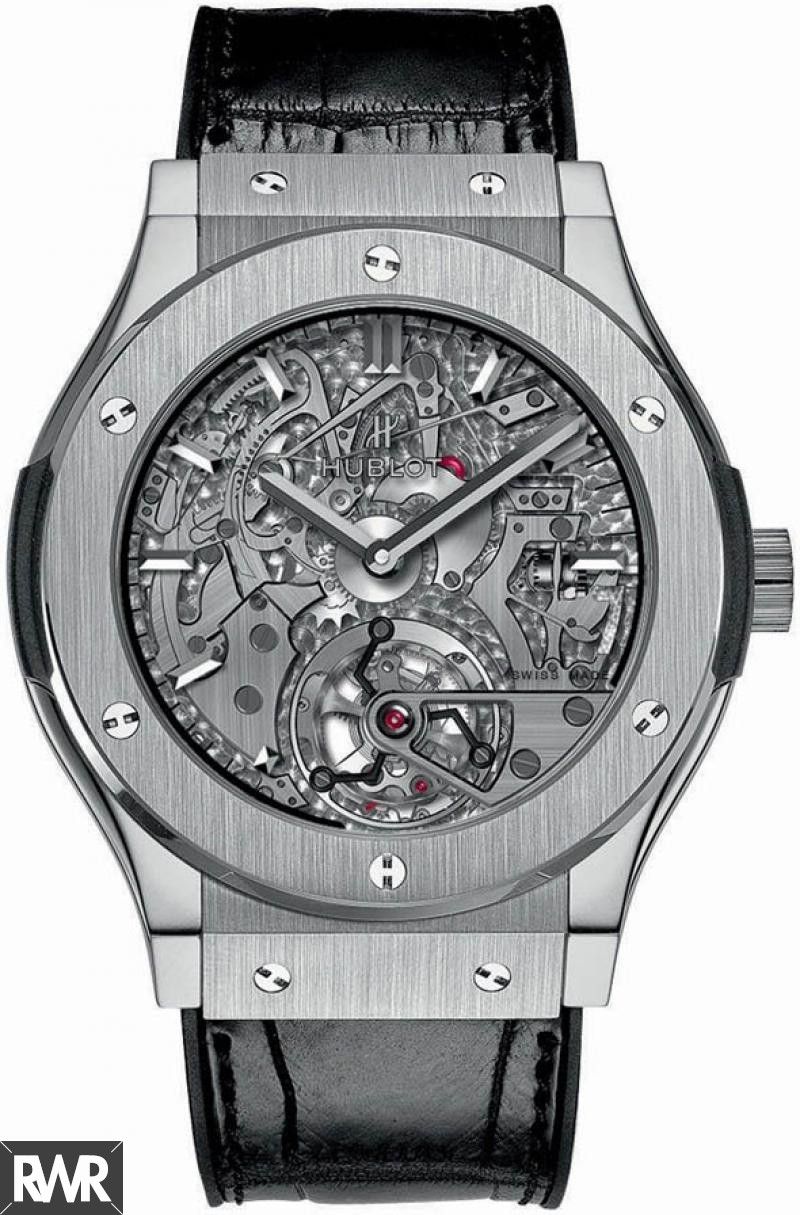 Replica Hublot Classic Fusion Tourbillon Cathedral Minute Repeater Titanium 504.NX.0170.LR