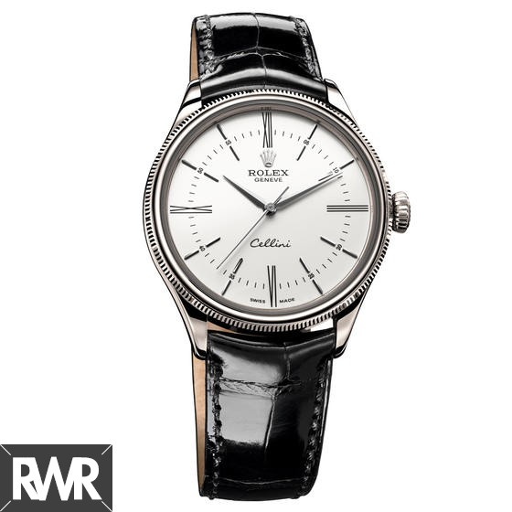 Rolex Cellini Time White Gold White Lacquer Dial 50509 Fake