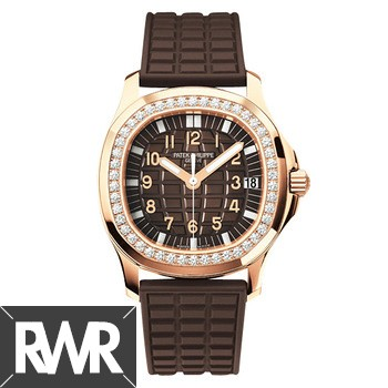 Replica Patek Philippe Aquanaut Rose Gold Ladies Watch 5068R-010