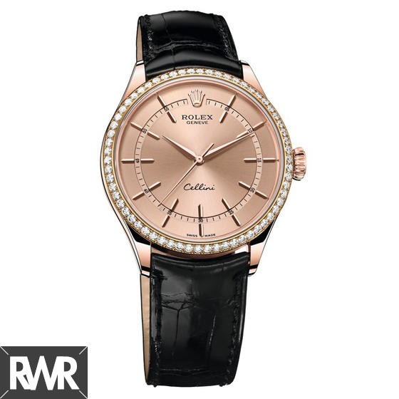 Replica Rolex Cellini Time 18ct Everose Gold Pink Dial 50705RBR