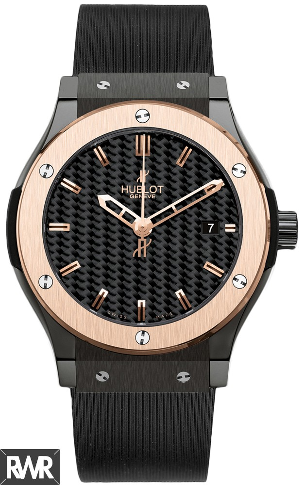 Replica Hublot Classic Fusion Black Carbon 45mm Mens Watch 511.CP.1780.RX