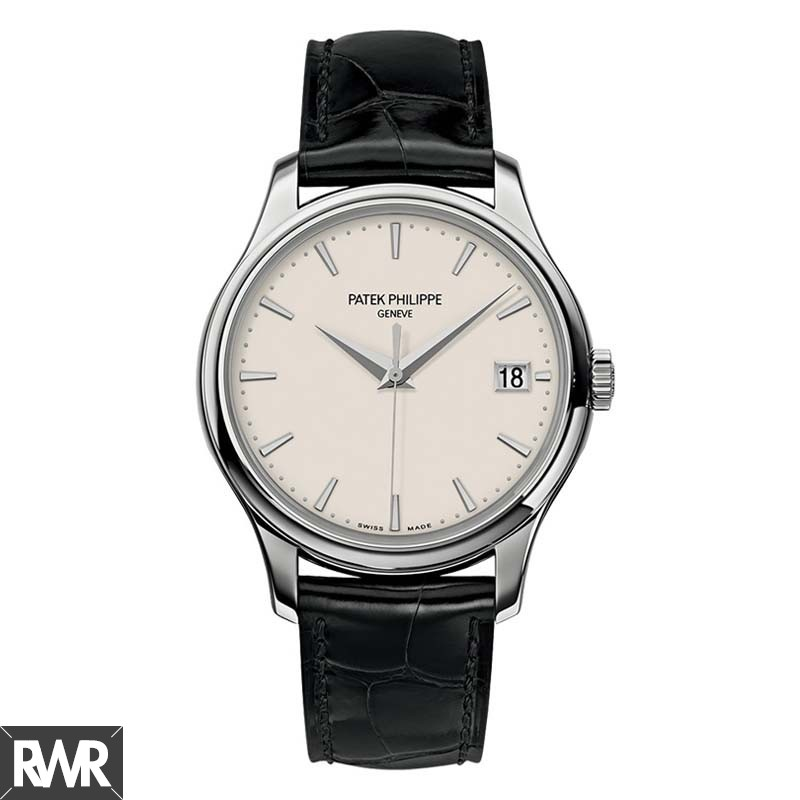 AAA grade Patek Philippe Calatrava Mechanical Ivory Dial Leather 5227G-001 Replica