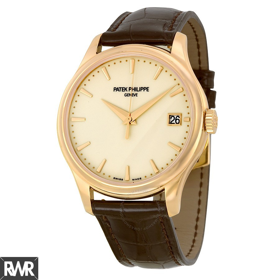 Cheap AAA Replica Patek Philippe Calatrava Mechanical Ivory Dial Leather -001 5227R-001