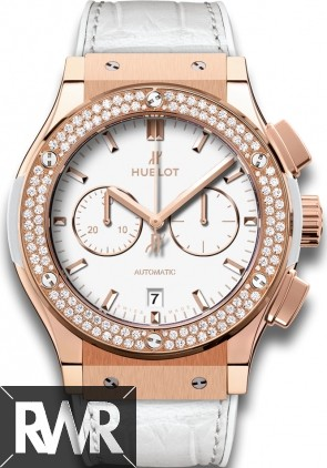 Replica Hublot Classic Fusion Chronograph King Gold White Diamonds 541.OE.2080.LR.1104