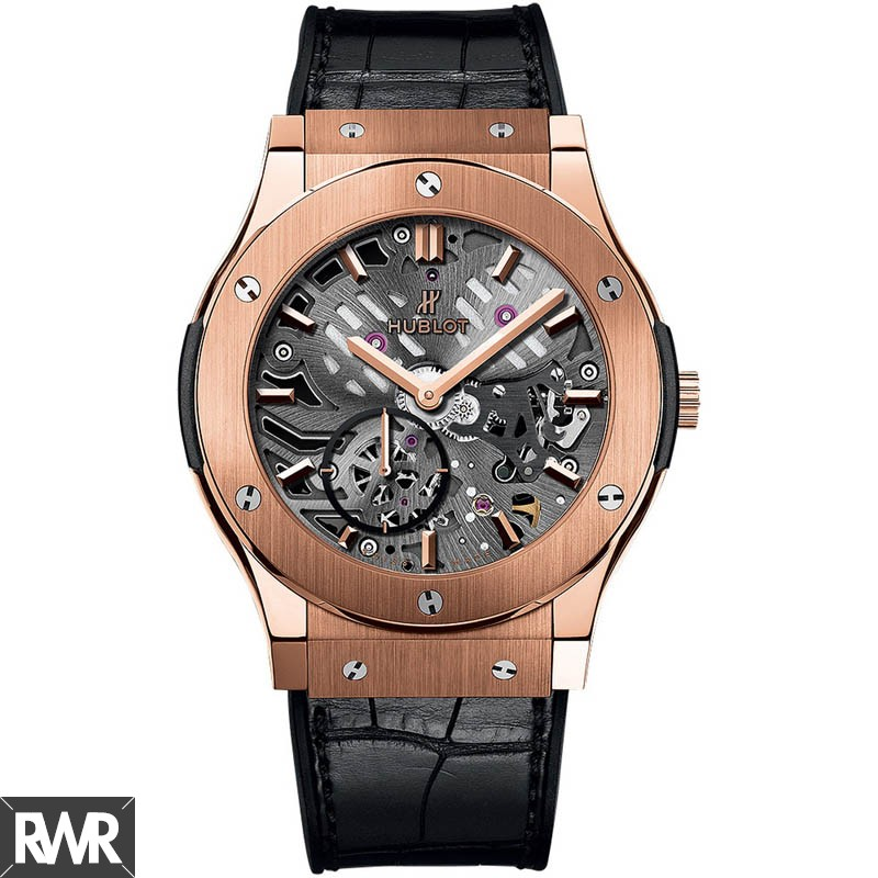 Hublot Classic Fusion Classico Ultra-thin Skeleton King Gold 545.OX.0180.LR imitation watch