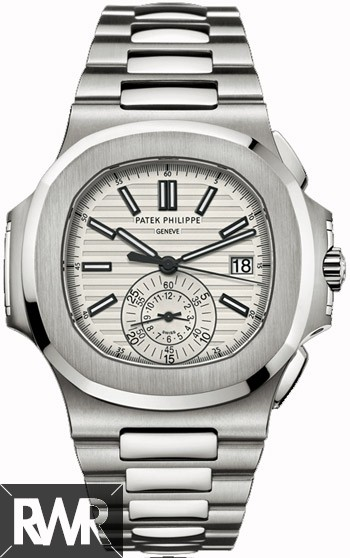 AAA grade Patek Philippe Nautilus Chronograph Silver Dial Steel 5980/1A-019 Replica
