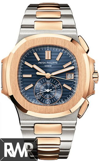 2e118c48ef3 Patek Philippe Nautilus Mens Steel and Gold 5980 1AR-001 Replica