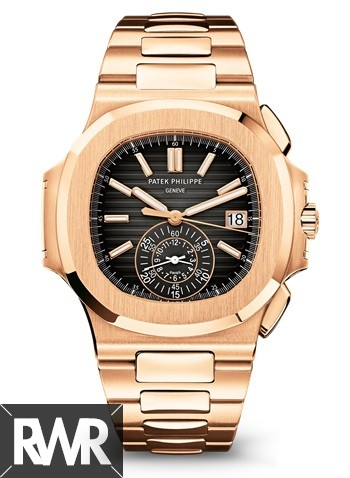 Cheap AAA Replica Patek Philippe Nautilus Black Dial Chronograph Automatic 5980/1R-001