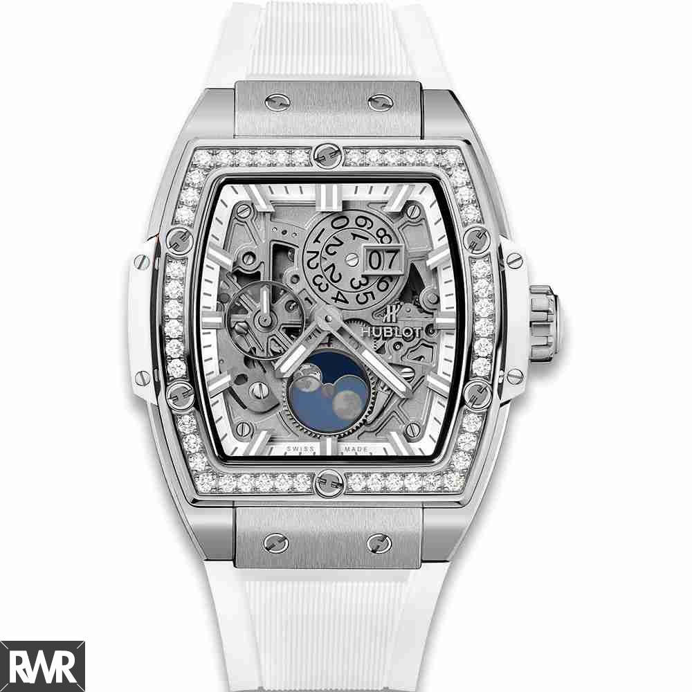 Hublot Spirit Of Big Bang Moonphase Titanium White Diamonds 42mm fake