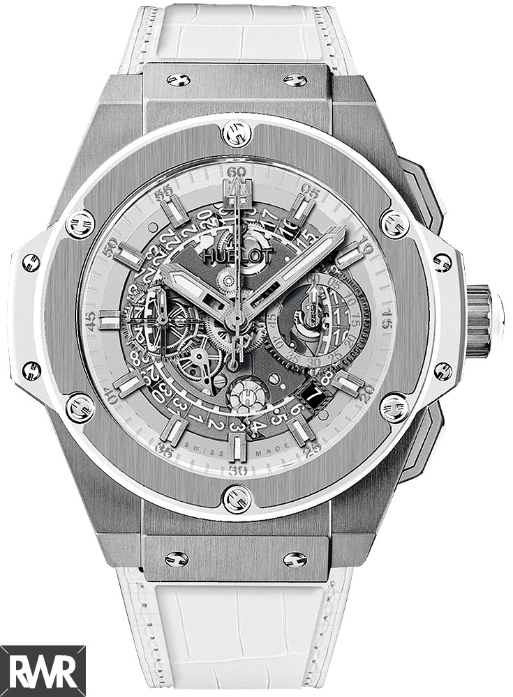 Replica Hublot King Power Unico Titanium White 48mm 701.NE.0127.GR