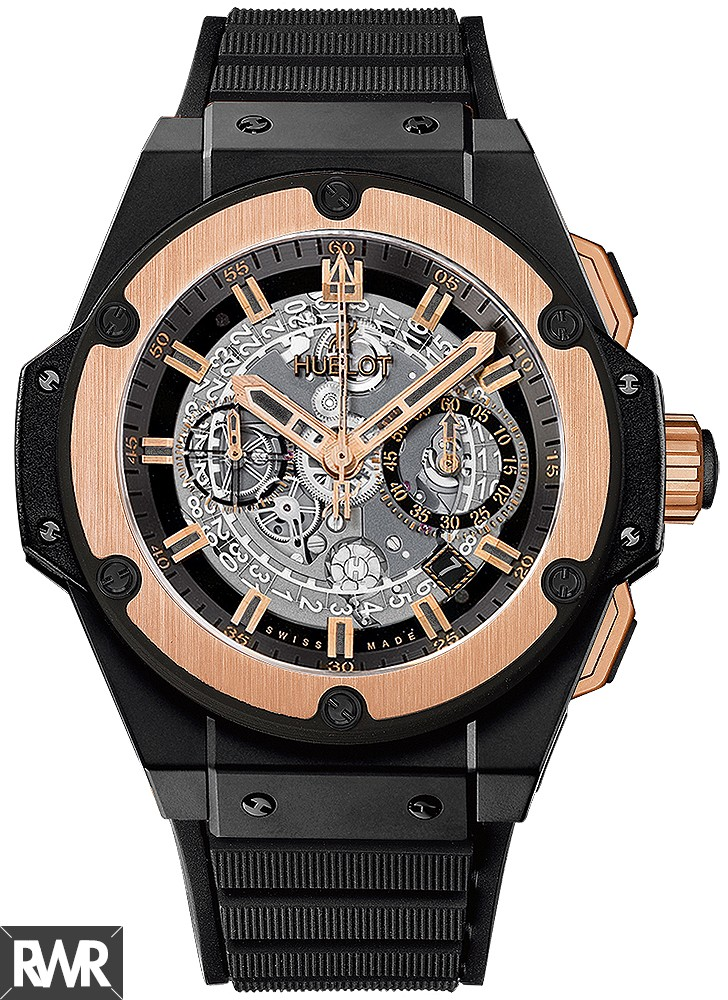 Replica Hublot King Power Unico Ceramic King Gold 48mm 701.CO.0180.RX
