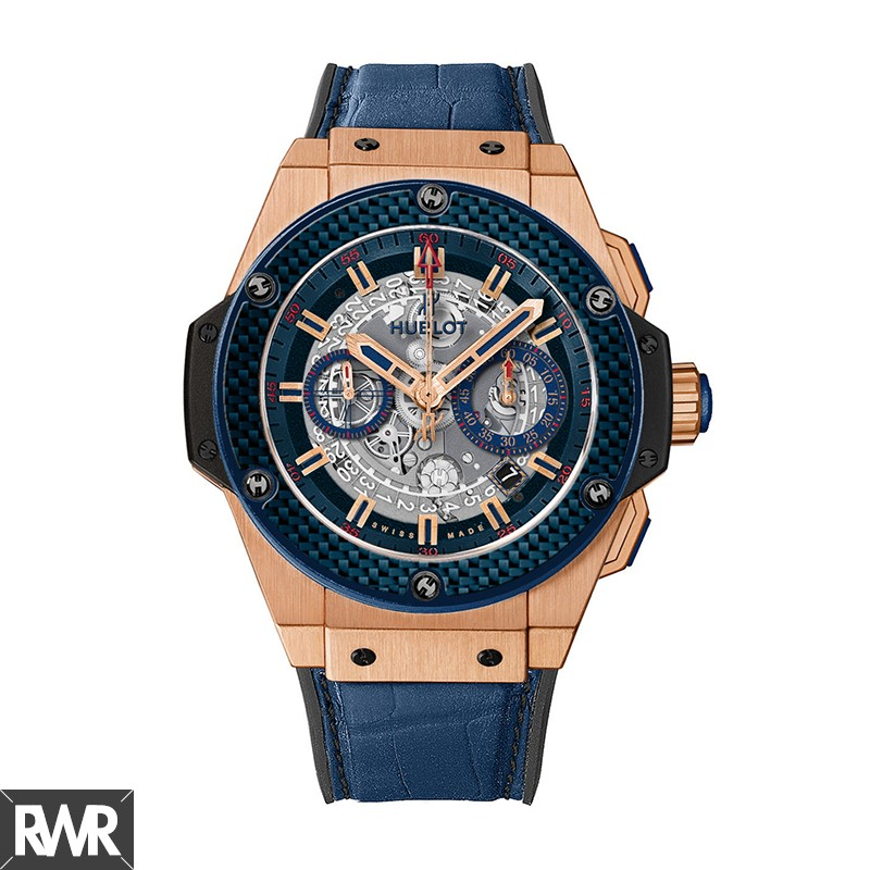 "Hublot King Power""Special One""Blue Carbon 701.OQ.0138.GR.SPO14"