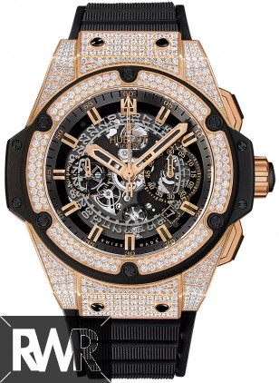 Replica Hublot King Power Unico King Gold Pave 701.OX.0180.RX.1704
