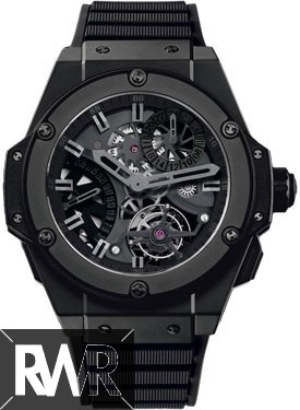 Replica Hublot King Power Tourbillon GMT All Black 706.CI.1110.RX