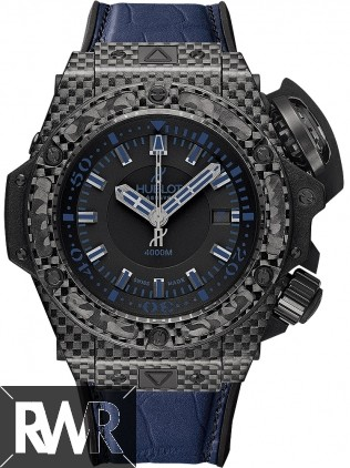 Replica Hublot King Power Oceanographic 4000 All Black Blue 731.QX.1190.GR.ABB12