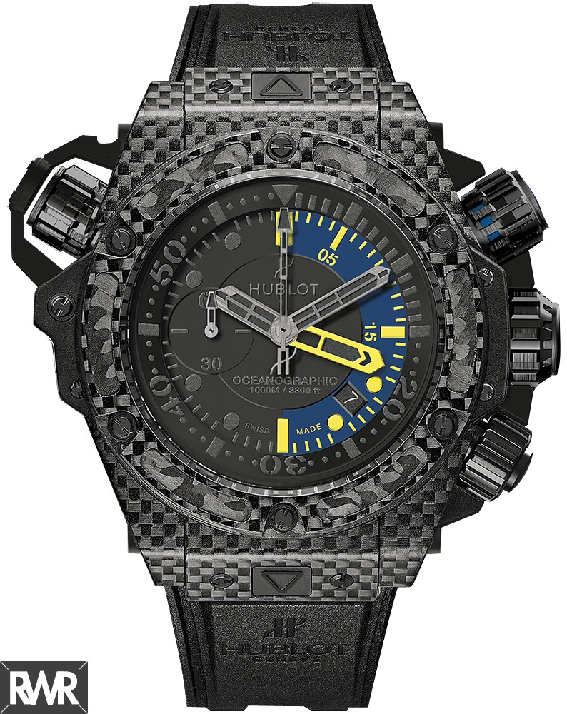 Replica Hublot King Power Oceanographic 1000 Carbon 48mm 732.QX.1140.RX