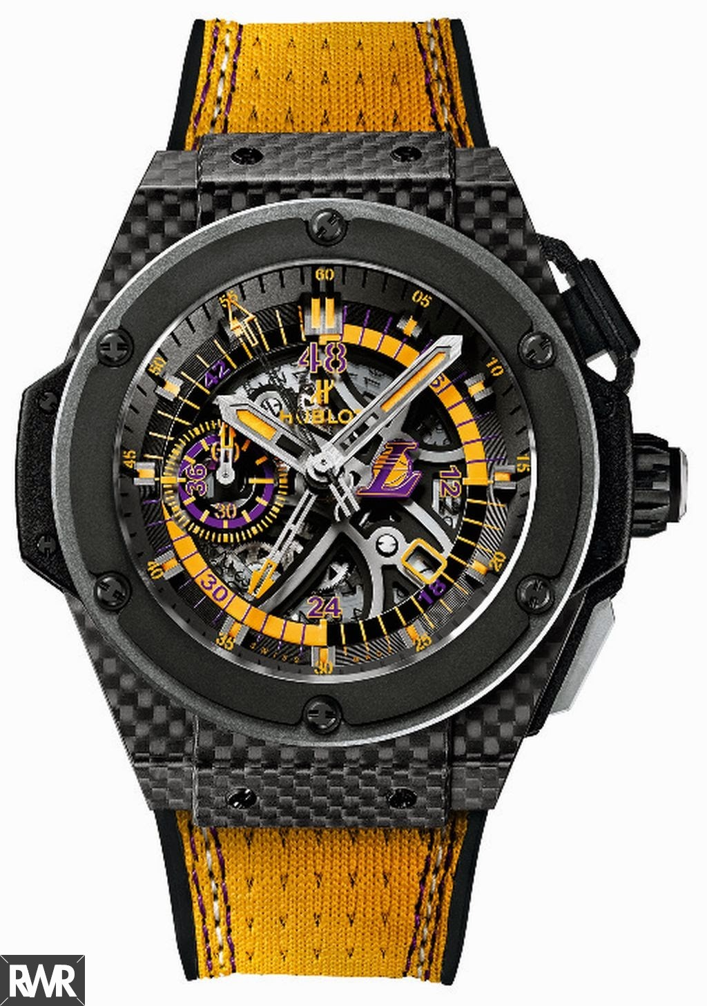 Replica Hublot King Power Los Angeles Lakers 48.00 mm 748.QX.1199.NR.LAK14
