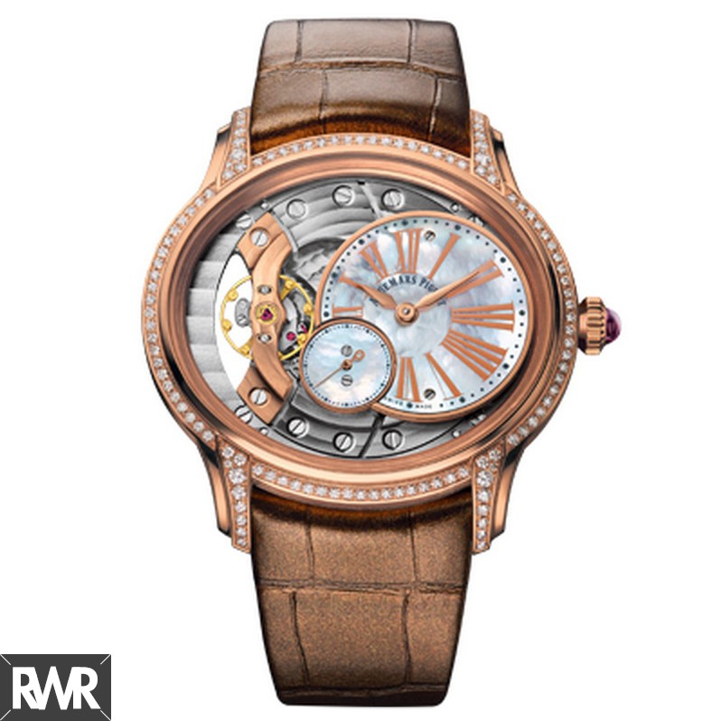 Replica Audemars Piguet Millenary Hand-Wound 77247OR.ZZ.A812CR.01 (Rose Gold)