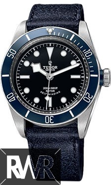 Fake Tudor Heritage Black Bay Stainless Steel Aged Leather 79220B