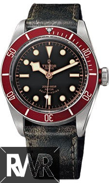 Fake Tudor Heritage Black Bay Stainless Steel Aged Leather 79220R