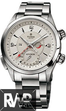 Replica Tudor Heritage Advisor Silver Dial Stainless Steel Mens Watch 79620T-95740